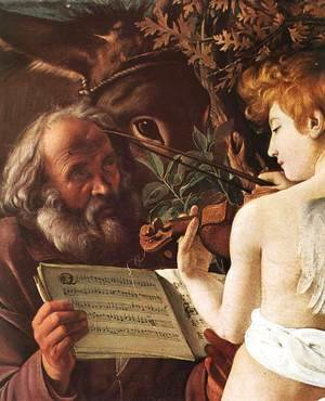 Caravaggio - Rest on Flight to Egypt (detail 1) 1596-97