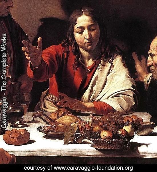 Supper at Emmaus (detail 1) 1601-02