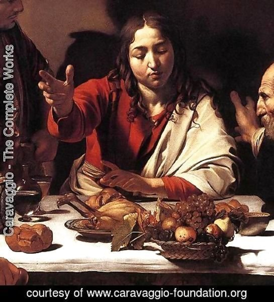 Caravaggio - Supper at Emmaus (detail 1) 1601-02