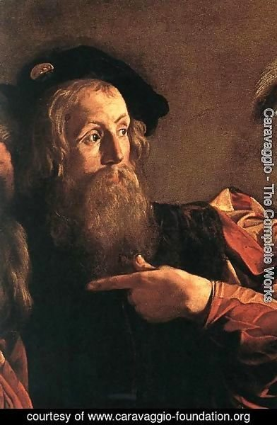 Caravaggio - The Calling of Saint Matthew (detail 4) 1599-1600
