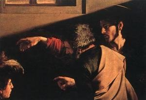 Caravaggio - The Calling of Saint Matthew (detail 6) 1599-1600