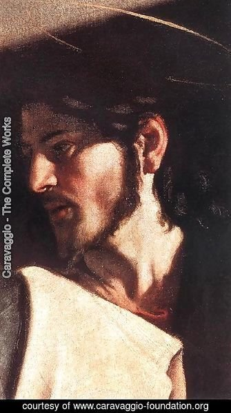 Caravaggio - The Calling of Saint Matthew (detail 7) 1599-1600