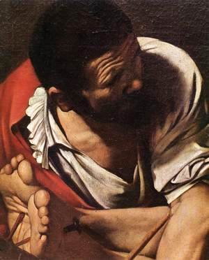 Caravaggio - The Crucifixion of Saint Peter (detail 1) 1600