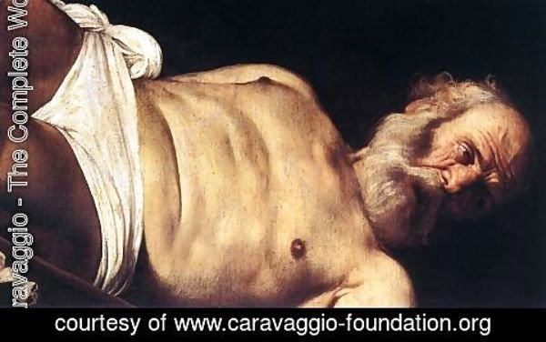 Caravaggio - The Crucifixion of Saint Peter (detail 2) 1600