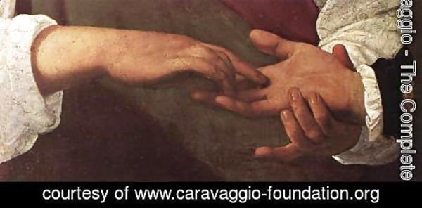 Caravaggio - The Fortune Teller (detail 1) 1596-97