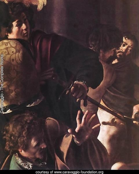 The Martyrdom of St Matthew (detail 1) 1599-1600