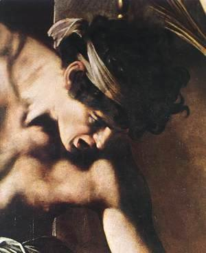 Caravaggio - The Martyrdom of St Matthew (detail 2) 1599-1600
