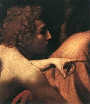 Caravaggio - The Sacrifice of Isaac (detail 1) 1601-02