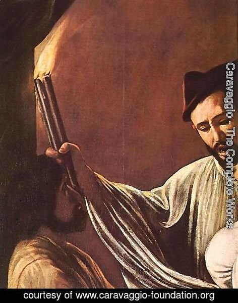 Caravaggio - The Seven Acts of Mercy (detail 1) 1607