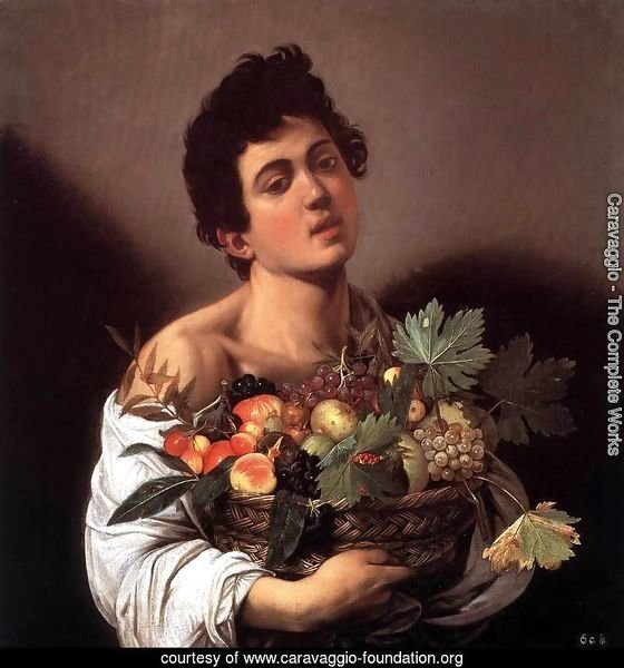 Boy with a Basket of Fruit (Giovane con un cesto di frutta)