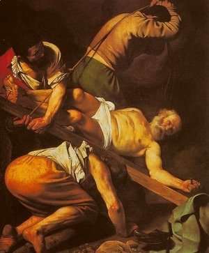 Caravaggio - Crucifixion of St. Peter (Crocifissione di san Pietro)
